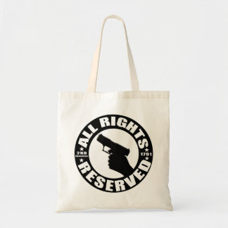 All Rights Reserved 2nd Amendment Tote Budget Tote Bag
