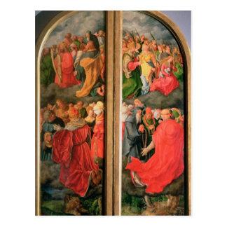 All Saints Day altarpiece Postcard