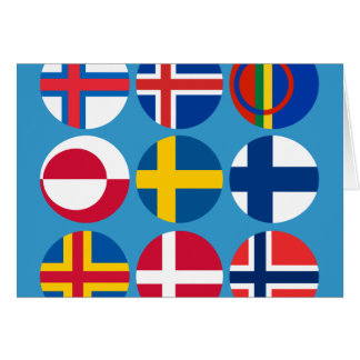 All Scandinavian Flags Card