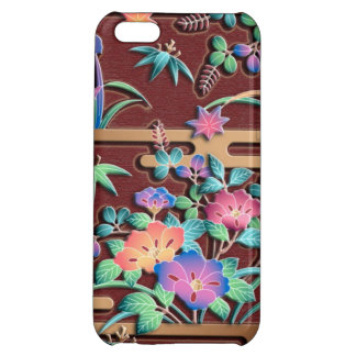 All seasons flowers colorful Japanese pattern Case For iPhone 5C