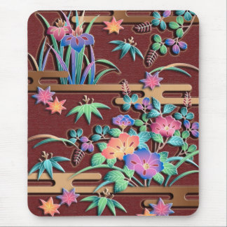 All seasons flowers mouse pad