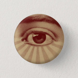 All Seeing Eye 3 Cm Round Badge