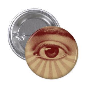 All Seeing Eye 3 Cm Round Badge