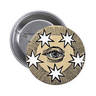 All-Seeing Eye 6 Cm Round Badge