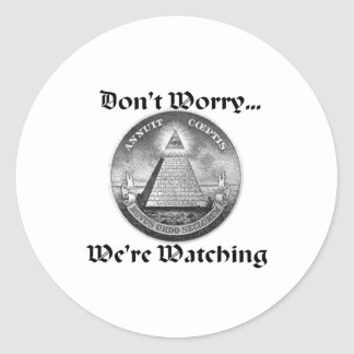 all-seeing-eye classic round sticker
