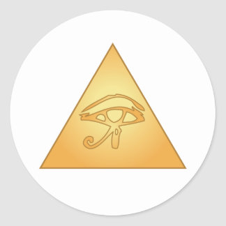 All Seeing Eye / Eye of Horus: Classic Round Sticker