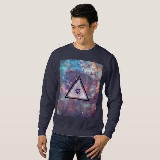 All Seeing Eye Geometric Galaxy Art Sweatshirt