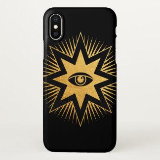 All Seeing Eye Gold Freemasonry Symbol iPhone Case