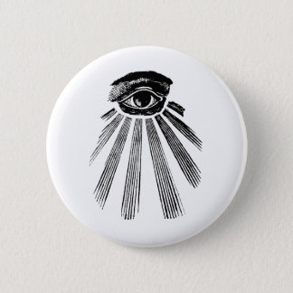 All Seeing Eye Mason 6 Cm Round Badge