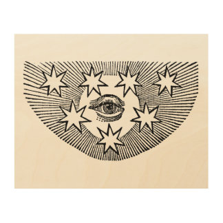 All-Seeing Eye of Horus Wood Wall Art