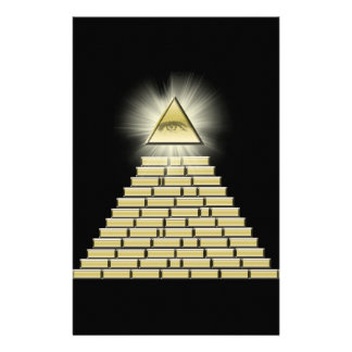 All Seeing Eye Pyramid 2 Personalised Stationery