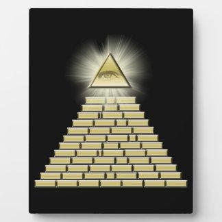 All Seeing Eye Pyramid 2 Plaques