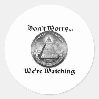 all-seeing-eye round sticker