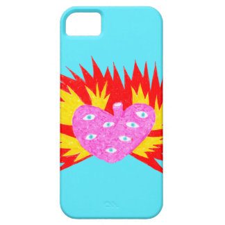 All Seeing Flaming Hart iPhone 5 Cases