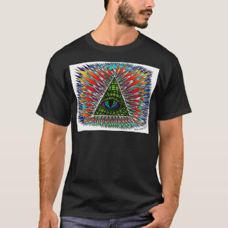 All Seeing Reptilian Eye T-Shirt Design