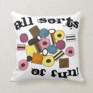 All Sorts of Fun Licorice Allsorts Candy Liquorice Cushion
