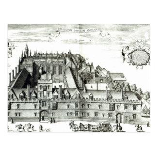 All Souls College, Oxford University, 1675 Postcard