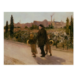 All Souls' Day, c.1882 Postcard