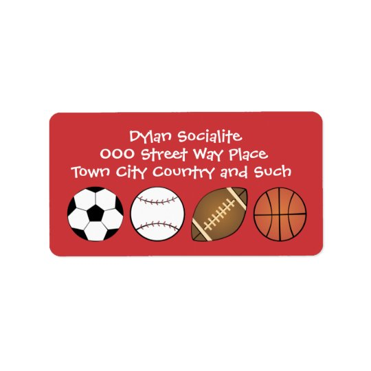 All Sports Address Label