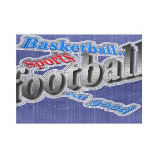 all sports all good canvas print