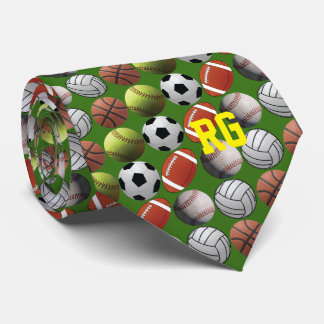 All Sports Athlete Ball with Monogram Tie