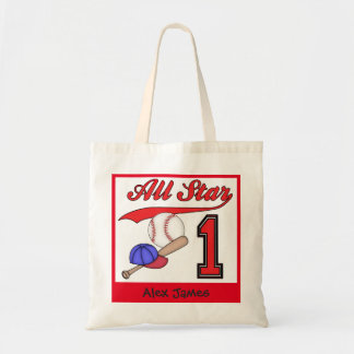 All Star Baseball 1st Birthday Tote Bag