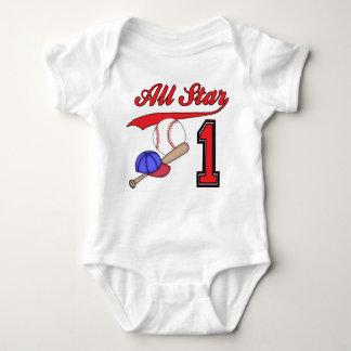 All Star Baseball 1st Birthday Tee Shirts