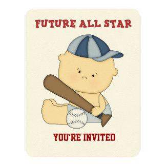 All-Star Baseball Baby Shower Invitation