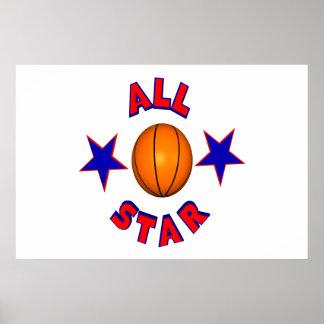 All Star Basketball Poster