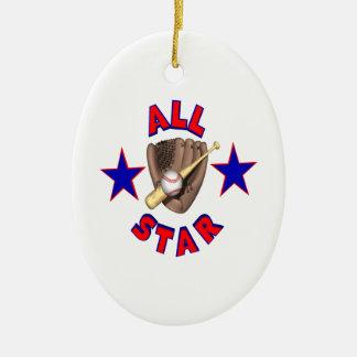 All Star Ceramic Ornament