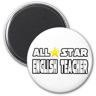 All Star English Teacher Refrigerator Magnet