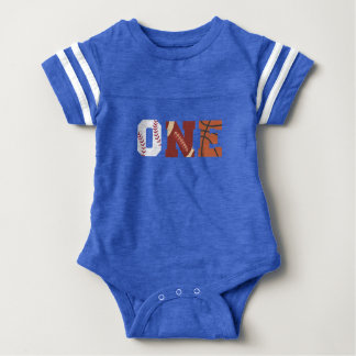 All-Star First Birthday Sports Outfit Baby Bodysuit