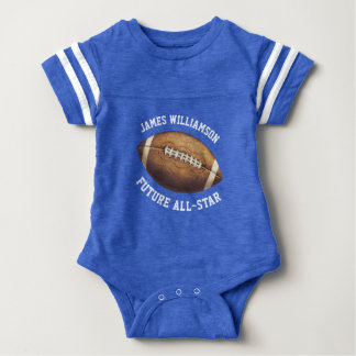 All-Star Football Add Name Baby Bodysuit