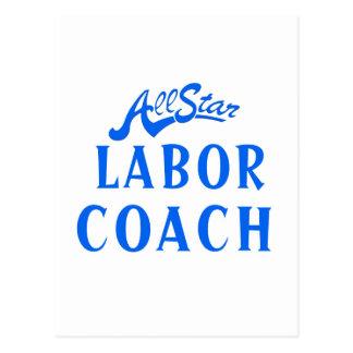 All Star Labor Coach Postcard