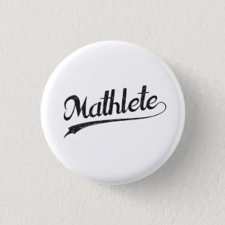 All Star Mathlete Math Athlete 3 Cm Round Badge