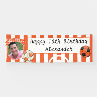 All Star Occasion Soccer Banner - Orange