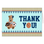 All-Star Puppies Baby Shower Thank-You Notecard Greeting Card