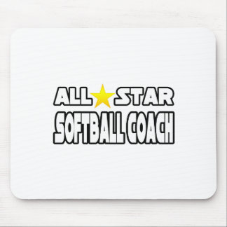All Star Softball Coach Mouse Pad