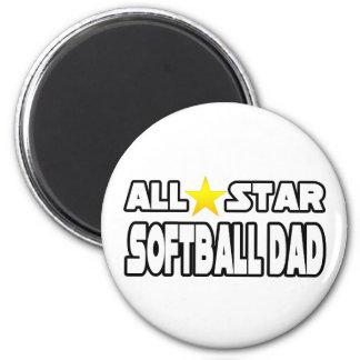 All Star Softball Dad Magnet