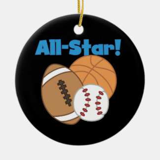 All Star Tshirts and Gifts Ceramic Ornament
