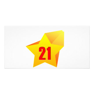 All Star Twenty One years old! Birthday Customized Photo Card
