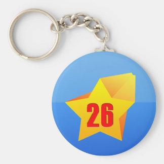 All Star Twenty Six years old! Birthday Key Ring