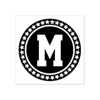 All Star Varsity Monogram Rubber Stamp