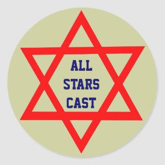 All Stars Cast round sticker
