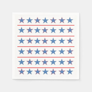 All Stars Memorial Day Party Paper Napkins