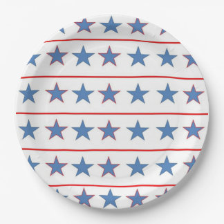 All Stars Memorial Day Party Paper Plates