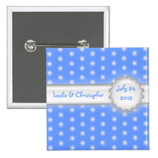 all stars save the date 15 cm square badge