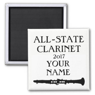 All-State Clarinet (customize name and date) Square Magnet