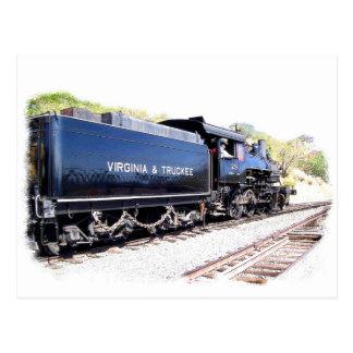 All Steam Locomotive Postcard
