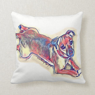 All tan Jack Russell terrier Cushion